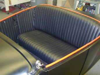 40 Ford leather interior