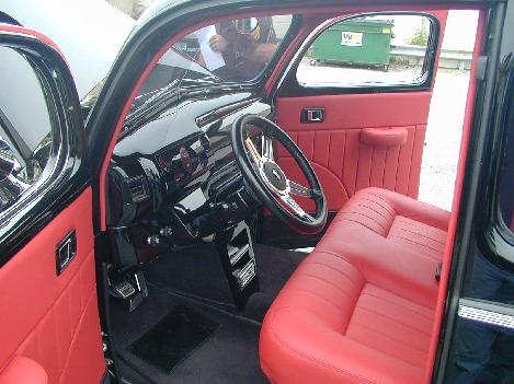 Hot rod leather interior
